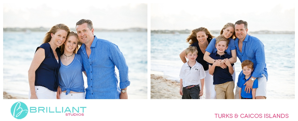 family photo session on grace bay beach